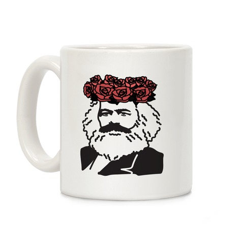 Flower Crown Karl Marx Coffee Mug