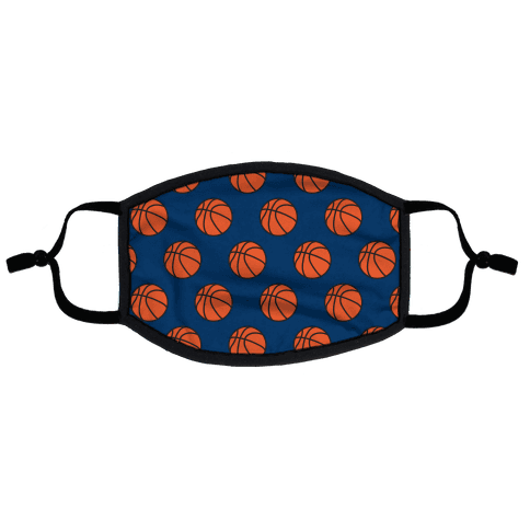 Basketball Pattern Flat Face Mask
