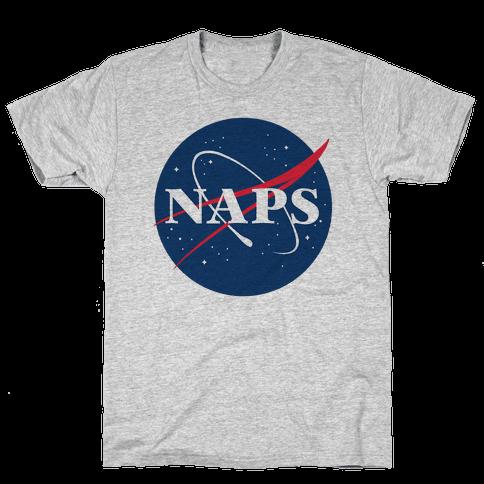 Naps Nasa Parody Mens/Unisex T-Shirt