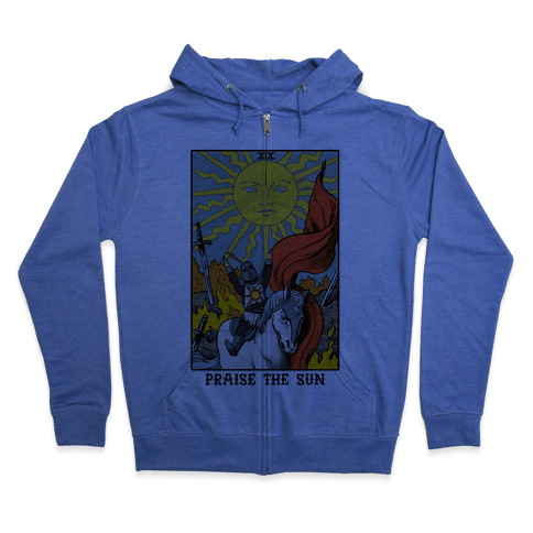 Praise The Sun Tarot Card Zip Hoodie