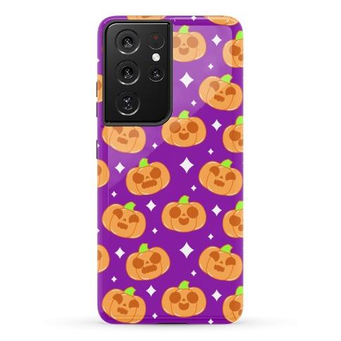 Kawaii Pumpkins Pattern Orange Phone Case
