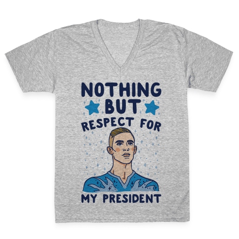 Nothing But Respect For My President Adam Rippon Parody V-Neck Tee Shirt