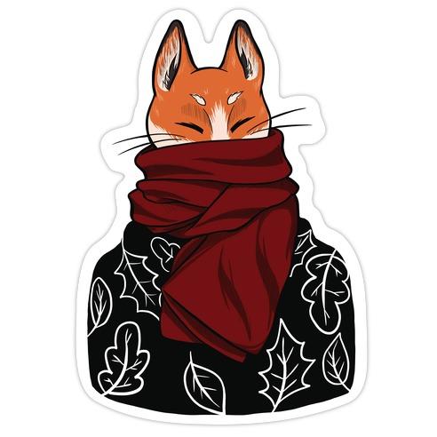 Autumn Fox Die Cut Sticker