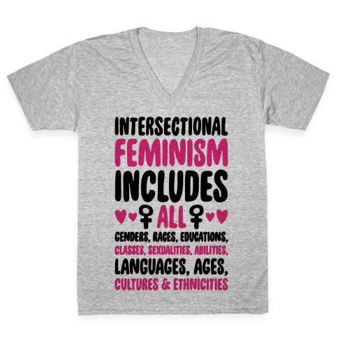 Intersectional Feminism V-Neck Tee Shirt