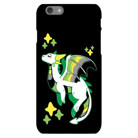 Aromantic Pride Dragon Phone Case