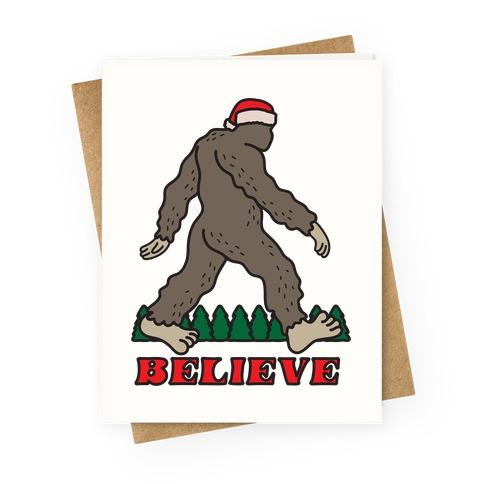 Santa Sasquatch Greeting Card