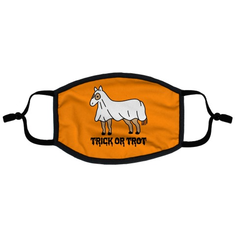 Trick Or Trot Flat Face Mask