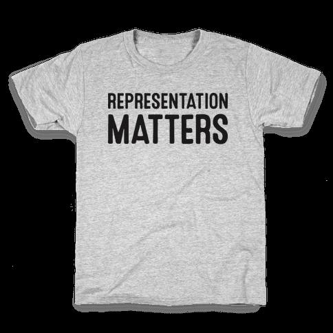 Representation Matters Kids T-Shirt