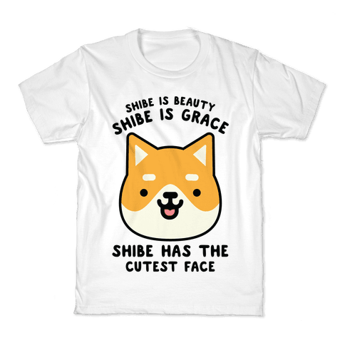 Shibe is Beauty Shibe is Grace Kids T-Shirt