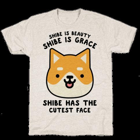 Shibe is Beauty Shibe is Grace Mens T-Shirt