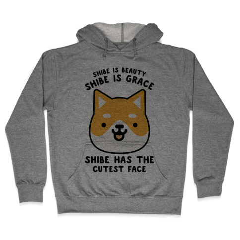 Shibe is Beauty Shibe is Grace Hooded Sweatshirt