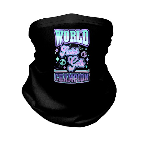 Pastel Goth World Champion Neck Gaiter