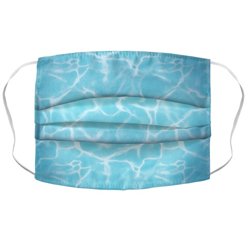 Clear Blue Water Accordion Face Mask