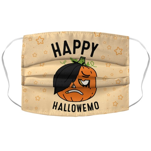 Happy Hallowemo Accordion Face Mask