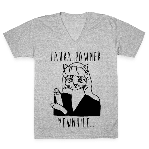 Laura Pawmer Parody V-Neck Tee Shirt