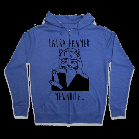 Laura Pawmer Parody Zip Hoodie
