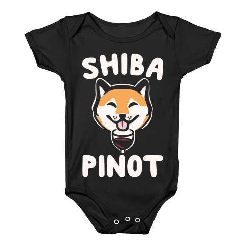Shiba Pinot White Print Baby Onesy