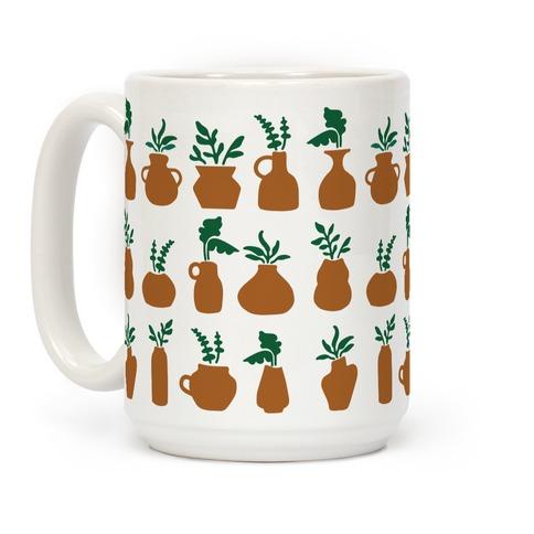 Terra cotta Pottery and Houseplants Pattern Coffee Mug