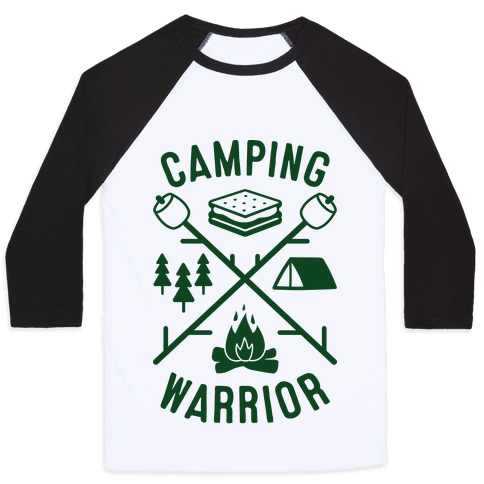 Camping Warrior Baseball Tee