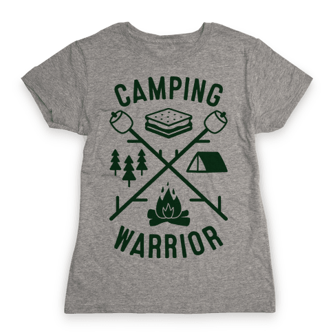 Camping Warrior Womens T-Shirt