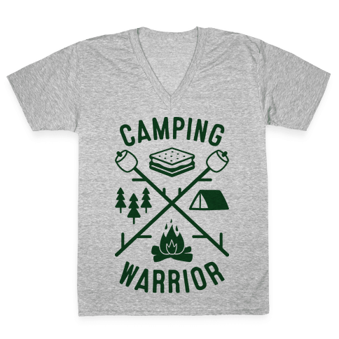 Camping Warrior V-Neck Tee Shirt