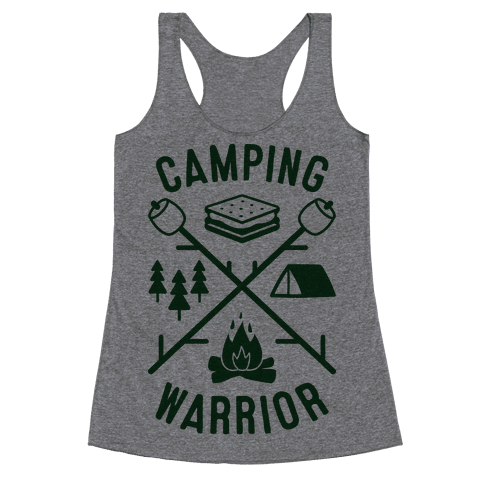 Camping Warrior Racerback Tank Top
