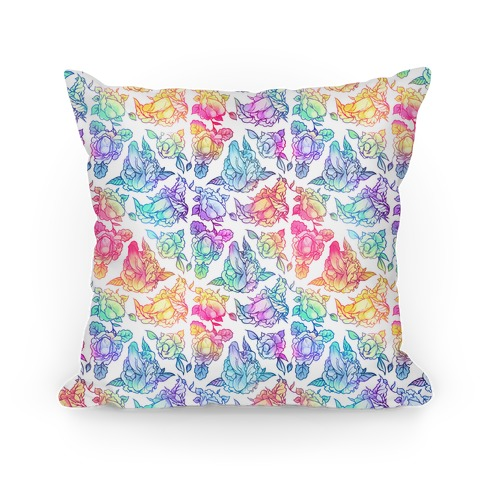 Floral Penis Rainbow Pillow