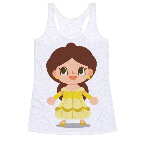 Princess Crossing Belle Parody Ball Gown Racerback Tank Top