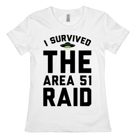 I Survived The Area 51 Raid Parody Womens T-Shirt