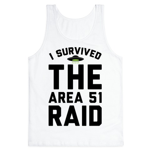 I Survived The Area 51 Raid Parody Tank Top