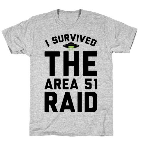 I Survived The Area 51 Raid Parody T-Shirt