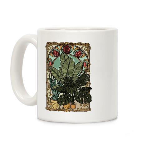 Art Nouveau House Plants Coffee Mug