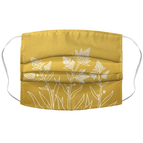 Goldenrod Gradient Accordion Face Mask
