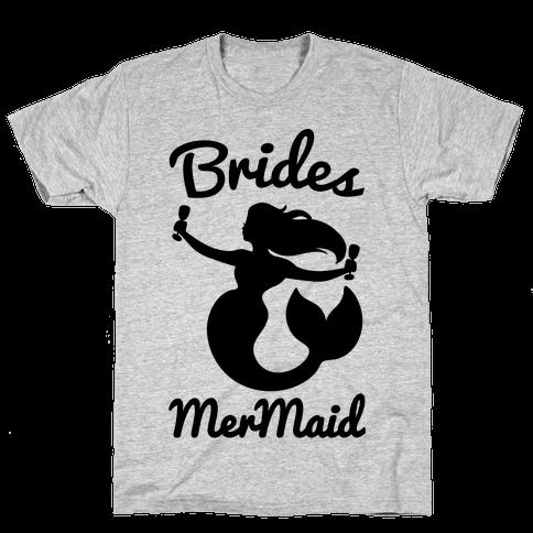 Brides Mermaid  Mens T-Shirt