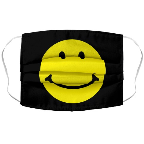 Smiley Face Accordion Face Mask