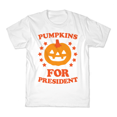 Pumpkins For President Kids T-Shirt