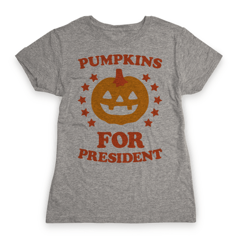 Pumpkins For President Womens T-Shirt