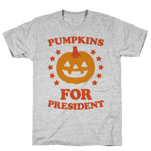 Pumpkins For President Mens T-Shirt