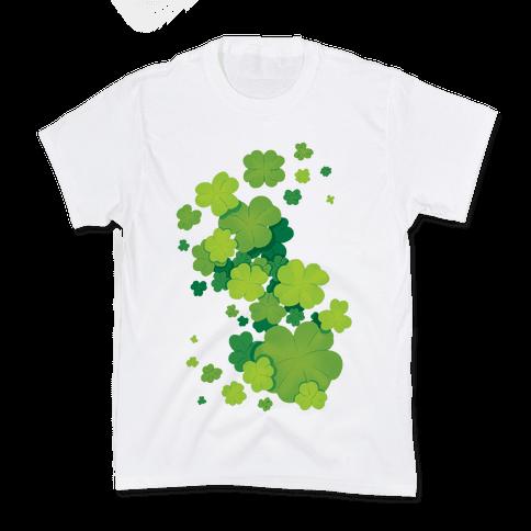 Clover Patch Pattern Kids T-Shirt