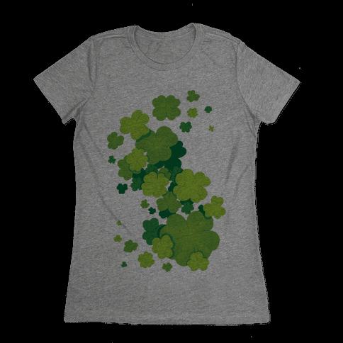 Clover Patch Pattern Womens T-Shirt