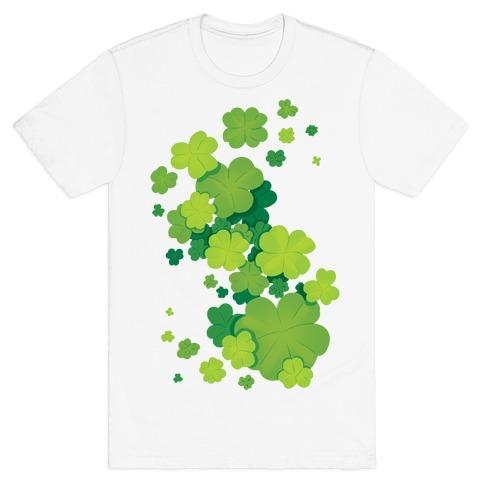 Clover Patch Pattern T-Shirt