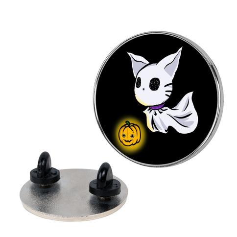 Ghost Cat Pin
