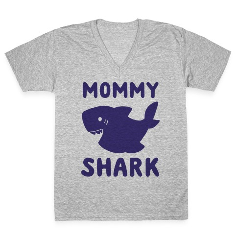 Mommy Shark (1 of 5 set) V-Neck Tee Shirt