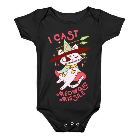 I Cast Meowgic Missile Baby Onesy