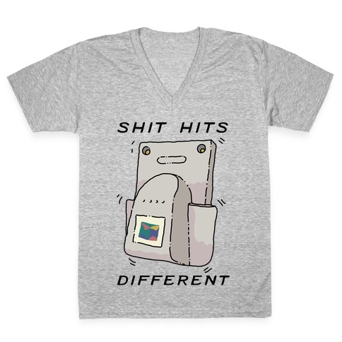 Shit Hits Different (Rumble Pack) V-Neck Tee Shirt
