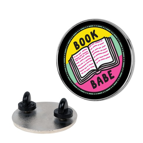 Book Babe Pop Culture Merit Badge Pin