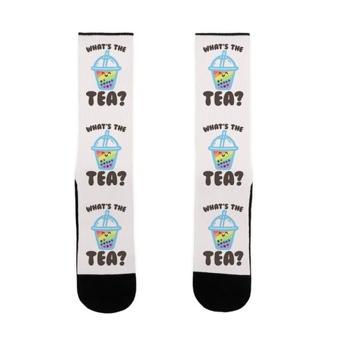 What's The Tea Bubble Tea Sock