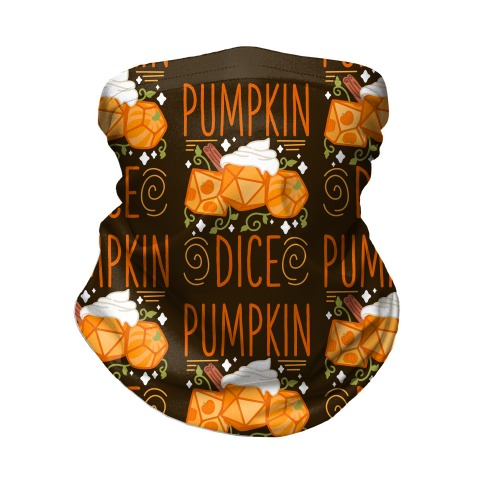 Pumpkin Dice Neck Gaiter