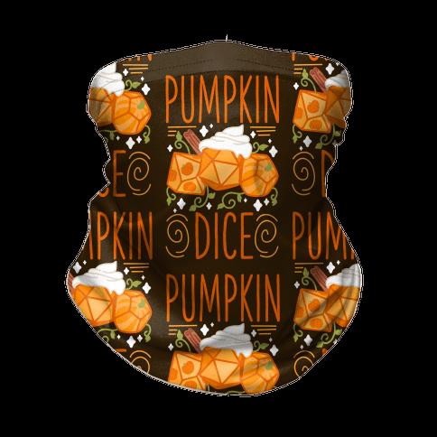 Pumpkin Dice Neck Gaiter