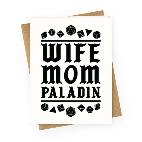 Wife Mom Paladin Greeting Card